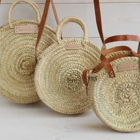 Bolsos y cestos de palma