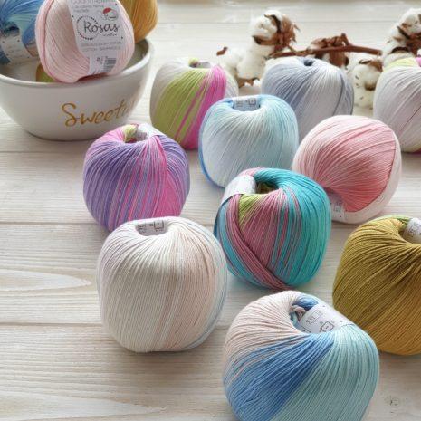 Algodón colorín Rosas Crafts