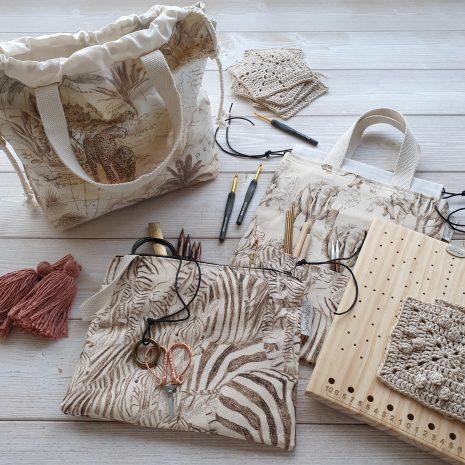 Bolsas Proyectos y Estuches Colección Safari